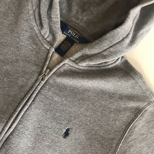 Heather gray RL hoodie boys Large 14-16